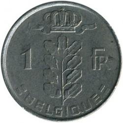 """Monēta > 1franks, 1950-1988 - Beļģija  (Uzraksts franču valodā - """"BELGIQUE"""") - reverse"""
