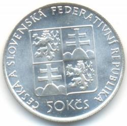 Moneta > 50corone, 1991 - Cecoslovacchia  (Boemia) - obverse