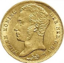Монета > 10гульденів, 1819-1840 - Нідерланди  - obverse