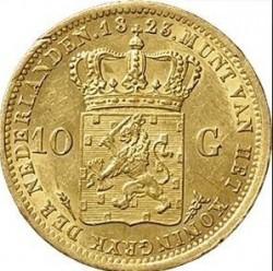 Монета > 10гульденів, 1819-1840 - Нідерланди  - reverse