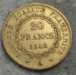 מטבע > 20פרנק, 1848-1849 - צרפת  - reverse