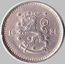 Münze > 50Penny, 1921 - Finnland  - obverse