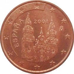 Moneda > 2céntimos, 2001 - España  - obverse