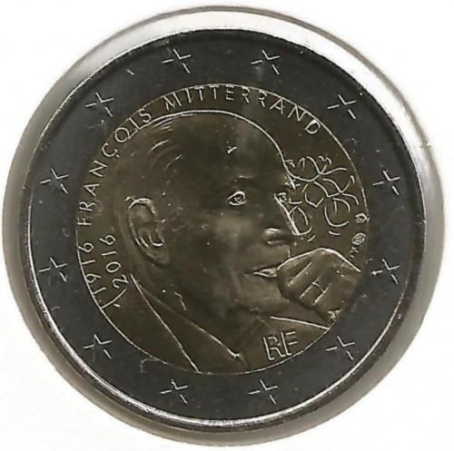 2 Euro 2016 François Mitterrand Frankreich Münzen Wert Ucoinnet