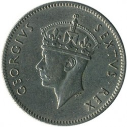 Coin > 50 cents, 1948-1952 - British East Africa  - obverse