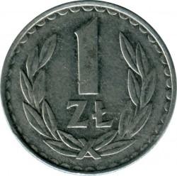 Coin > 1zloty, 1986-1988 - Poland  - obverse