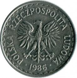 Coin > 1zloty, 1986-1988 - Poland  - reverse