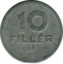 Münze > 10Filler, 1950-1966 - Ungarn  - obverse