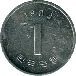 Moneta > 1vonas, 1983-2015 - Pietų Korėja  - obverse