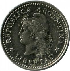 硬币  /> 10分, 1957-1959 - 阿根廷 - obverse