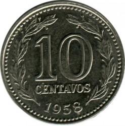 硬币  /> 10分, 1957-1959 - 阿根廷 - reverse