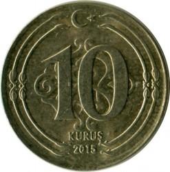Moneda > 10kurus, 2015 - Turquía  - reverse