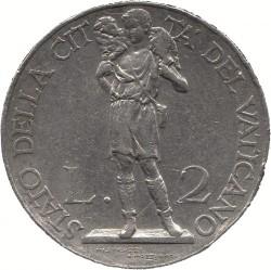 Монета > 2лири, 1933 - Ватикан  - reverse