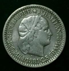 Moneda > 10centimes, 1881-1894 - Haití  - obverse