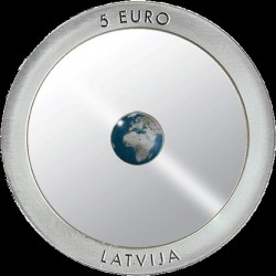 Coin > 5 euro, 2016 - Latvia  (Earth) - obverse