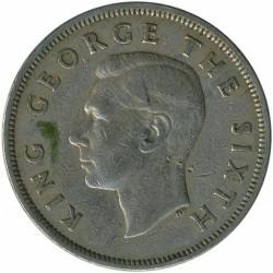 Монета > ½кроны, 1948-1951 - Новая Зеландия  - obverse
