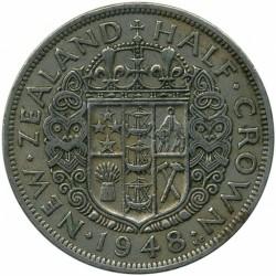 Монета > ½кроны, 1948-1951 - Новая Зеландия  - reverse