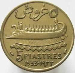 Moneda > 5piastres, 1925-1940 - Líban  - reverse