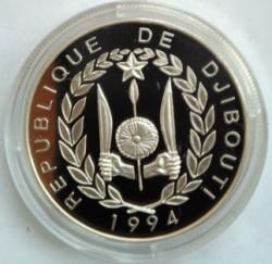 Moneta > 100franchi, 1994 - Gibuti  (Fauna in via di estinzione - Zebre) - obverse