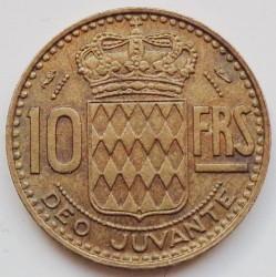 Minca > 10francs, 1950-1951 - Monako  - reverse