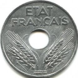 Coin > 20 centimes, 1941-1944 - France  - obverse