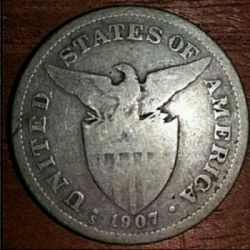Moneda > 50 centavos, 1907-1921 - Filipines  - reverse
