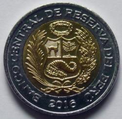 Монета > 5сола, 2016-2018 - Перу  - obverse