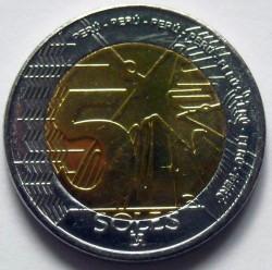 Монета > 5сола, 2016-2018 - Перу  - reverse
