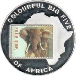 Moneta > 1000szylingów, 2001 - Uganda  (Wielka piątka w kolorze - Słoń) - reverse