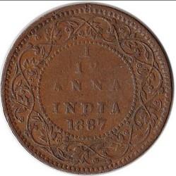 Монета > 1/12анна, 1877-1901 - Индия - Британска  - reverse