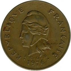 Монета > 100франков, 1976-2005 - Французская Полинезия  - obverse