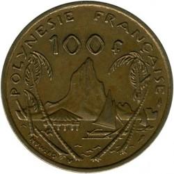 Монета > 100франков, 1976-2005 - Французская Полинезия  - reverse