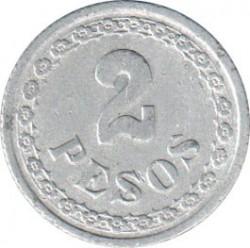 Moneda > 2pesos, 1938 - Paraguay  - reverse