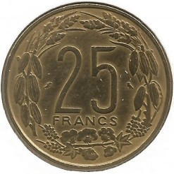 Кованица > 25франака, 1970-1972 - Екваторијалне Афричке Државе  - obverse