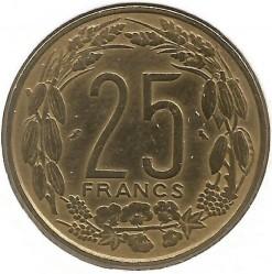 Кованица > 25франака, 1970-1972 - Екваторијалне Афричке Државе  - reverse