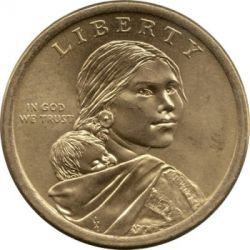 Coin > 1 dollar, 2014 - USA  (Native American - Native Hospitality) - obverse