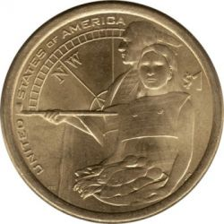 Coin > 1 dollar, 2014 - USA  (Native American - Native Hospitality) - reverse
