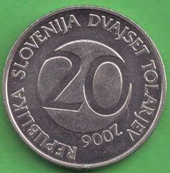 Moneda > 20tolarjev, 2006 - Eslovènia  - obverse