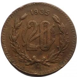 Νόμισμα > 20Σεντάβος, 1935 - Μεξικό  (Χαλκός / καφέ χρώμα /) - reverse
