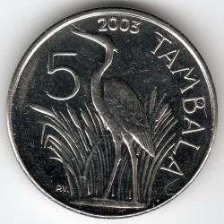 Монета > 5тамбал, 2003 - Малави  - reverse