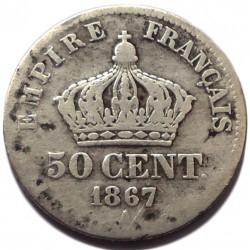 Münze > 50Centime, 1864-1869 - Frankreich  - reverse