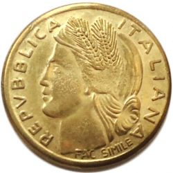 Coin > 1lira, 1946 - Italy  - obverse