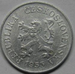 Münze > 5Heller, 1953-1955 - Tschechoslowakei  - obverse