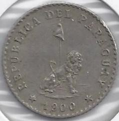 Moneta > 10sentavų, 1900-1903 - Paragvajus  - obverse