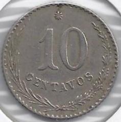 Moneta > 10sentavų, 1900-1903 - Paragvajus  - reverse