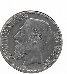 Moneda > 2francs, 1887 - Bèlgica  - reverse