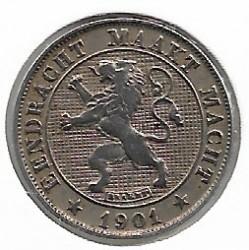 Minca > 5centimes, 1901 - Belgicko  (Legend in Dutch - 'DER BELGEN') - obverse