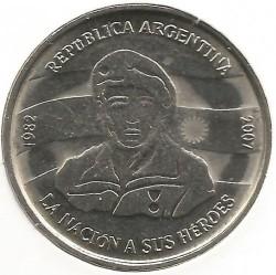 Монета > 2песо, 2007 - Аргентина  (25 лет оккупации Фолклендских островов) - obverse
