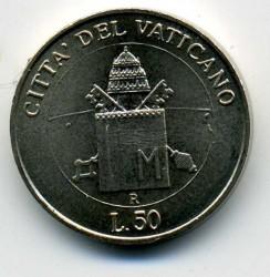 Mynt > 50lire, 2000 - Vatikanstaten  - reverse