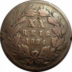 Монета > 20рейса, 1882-1886 - Португалия  - reverse